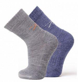 Носки Climat Control  отводят влагу, сохраняют температуру тела,  осень-зима-весна. Цвет серый меланж