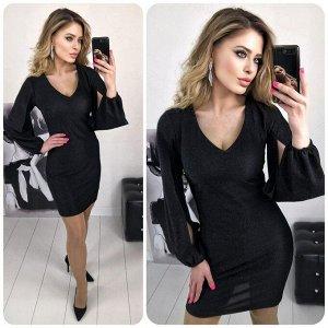 """Платье 5005 """"Разрез Рукава - Люрекс"""" №5"""