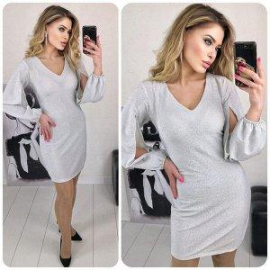 """Платье 5005 """"Разрез Рукава - Люрекс"""" №3"""