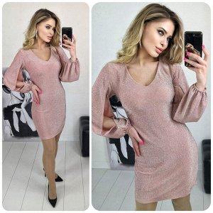 """Платье 5005 """"Разрез Рукава - Люрекс"""" №2"""
