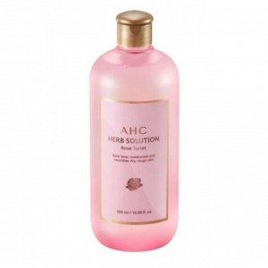 Увлажняющий тоней на основе розовой воды AHC HERB SOLUTION ROSE TONER