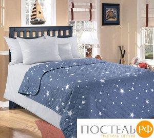 П11014204561 Звездное небо 1 сер ПЕРКАЛЬ 110*140 покрывало стеганое