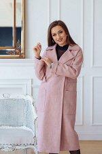 Пальто женское демисезонное 20280 (розовый)