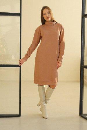 Платье женское 144L9 карамель