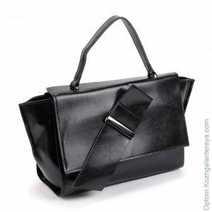 Женская кожаная сумка Cidirro 503 Блек черный
