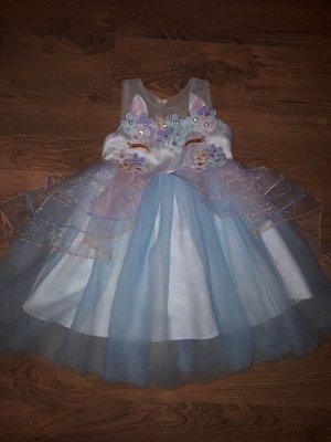 Платье Платье в стиле Единорожки, на рост 90см