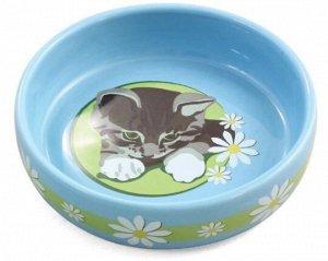 Миска керамика для кошек Котенок 0,2л
