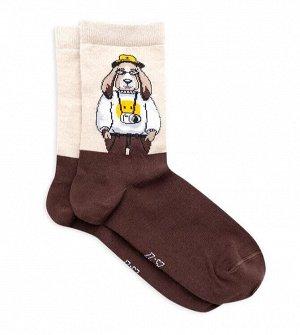 Носки унисекс с собакой-туристом