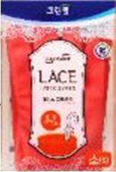 """Перчатки из натурального латекса с внутренним покрытием """"LACE LATEX GLOVES"""" (укороченные, с крючками для сушки) размер M 1 пара"""