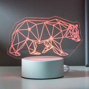 "Светильник ""Медведь"" LED RGB от сети 9,5х16,5х15 см"