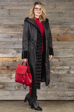 Пальто Пальто женское из плащевой стеганой ткани и драпа. Рост: 168 Силуэт: прямой Размерная сетка: соответствует размеру Утеплитель: СЛАЙТЕКС 150г, Termotec 80г. Застежка: кнопки, молния Длина по спи