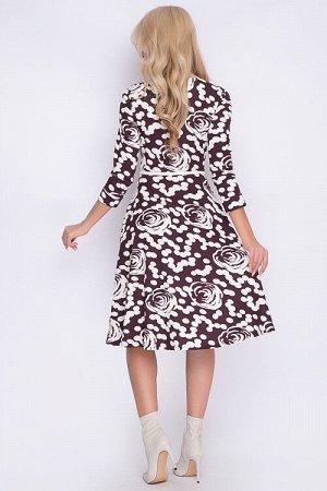 Платье Платье из трикотажного полотна отрезное по линии талии.Ремень в комплект не входит. 30% вискоза 65% п/э,5% эластан