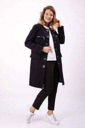 Трикотажное пальто прямого силуэта, Пальто 81401-3719