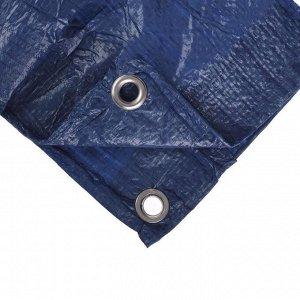 Тент защитный, 3 ? 2 м, плотность 60 г/м?, люверсы шаг 1 м, голубой