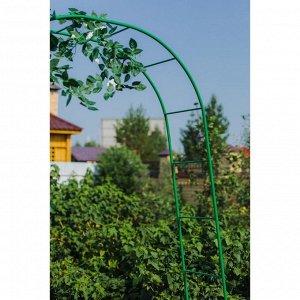 Арка садовая, разборная, 240 ? 125 ? 36,5 см, металл, зелёная, Greengo