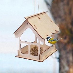 Кормушка для птиц «Домик», 19 ? 18 ? 16 см, Greengo