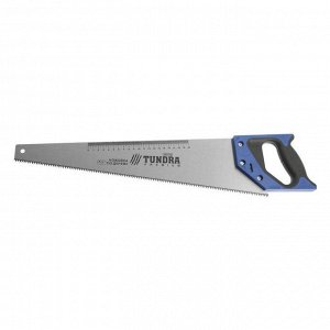 Ножовка по дереву TUNDRA, 2К рукоятка, 2D заточка, каленый зуб, 7-8 TPI, 500 мм