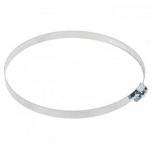 Хомут оцинкованный TUNDRA krep, сквозная просечка, диаметр 91-114 мм, ширина 12.7 мм