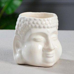 "Кашпо ""Будда"" 1.3 л. цвет белый"