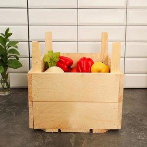 Ящик для овощей и фруктов, 40 ? 30 ? 30 см, деревянный, с ножками