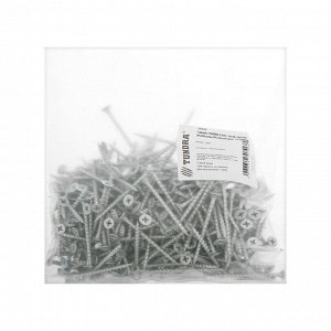 Саморез TUNDRA 3,5х51, потай, крупная резьба,шлиц PH, белый цинк, 1 кг