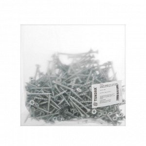 Саморез TUNDRA 3,5х41, потай, крупная резьба,шлиц PH, белый цинк, 1 кг