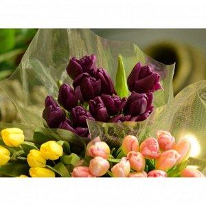 Тюльпаны фиолетовые (15 шт. букет)