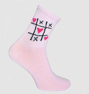 Носки женские светло-розовый Crazy Sock