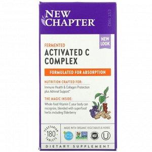 New Chapter, Активированный пищевой комплекс с витамином С, 180 вегетарианских таблеток