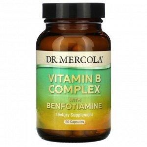 Dr. Mercola, комплекс витаминов группы B с бенфотиамином, 60 капсул