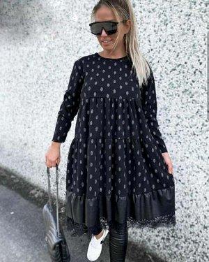 Платье Ткань софт+Эко кожа