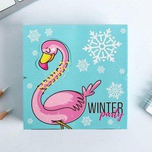 Бумага для записей в коробке Winter party: 250 листов 9 х 9 см