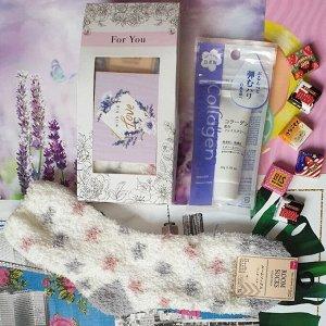 Подарок. Размер коробочки 9 × 19 × 6 см, крем коллаген, носки женские теплые, открытка, сладкий презент(мармелад, шоколад,жевательная резинка или конфеты на выбор поставщика)