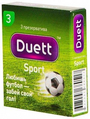 Презервативы DUETT Sport №3