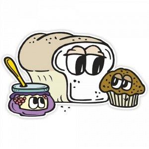 Наклейка Хлеб и кекс