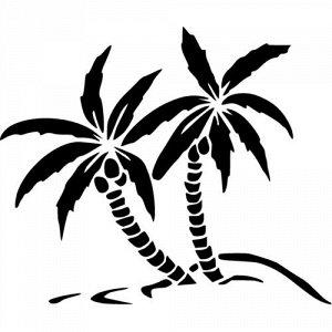 """Пальмы Чтобы узнать размеры наклейки, воспользуйтесь пожалуйста кнопкой """"Задать вопрос организатору"""".  Наклейки можно изготовить любого размера по индивидуальному заказу. Напишите в сообщении нужный р"""