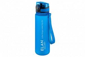 """Бутылка для воды 500 мл 6,5*6,5*23 см """"Style Matt"""" небесный"""