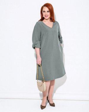 Платье 0207-1 серо-зеленый