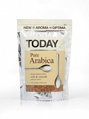 "Кофе ""TODAY"" Pure Arabica кофе растворимый, 150 г"