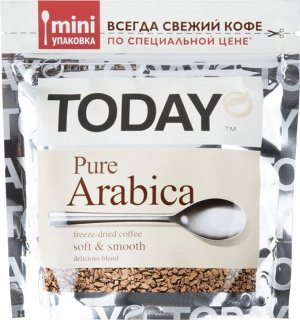 "Кофе ""TODAY"" Pure Arabica пакет 37,5г"