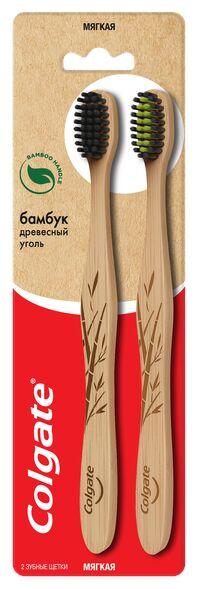 З.щетка COLGATE Бамбук Древесный уголь 2шт