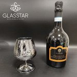 Набор бокалов Glasstar Графит Перо / 3 шт. 410 мл