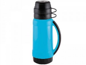Термос 1,8л PRATICO корпус пластик, колба стекло, 2 чашки, 5536 Mallony