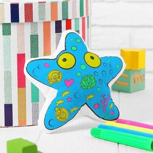 Игрушка-раскраска «Морская звезда» (без маркеров) в пакете