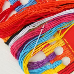 Вышивка крестиком «Белка с шариками» 25 х 20 см. Набор для творчества