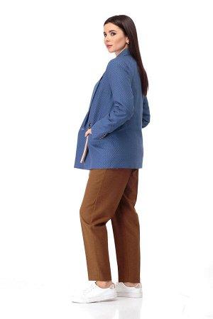 Жакет Жакет ANELLI 901 синие тона  Состав: Вискоза-28%; ПЭ-68%; Эластан-4%; Сезон: Осень-Зима Рост: 164  Уютный жакет бежевых и синих тонов на кулиске станет прекрасным дополнением вашего гардероба!Ж