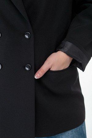 Жакет Жакет ANELLI 912.1 черный  Состав: ПЭ-9%; Шерсть-28%; ПАН-63%; Сезон: Весна-Лето Рост: 164  Двубортный жакет прямого силуэта на подкладке выполнен из костюмной ткани в чёрном цвете..С отложными