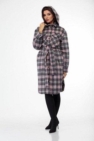Пальто Пальто ANELLI 935 клетка  Состав: ПЭ-9%; Шерсть-28%; ПАН-63%; Сезон: Осень-Зима Рост: 164  Главный тренд этой осени пальто-рубашка из пальтовой ткани в клетку актуальной длины миди!Пальто умер