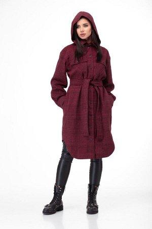 Пальто Пальто ANELLI 935 красные тона  Состав: ПЭ-9%; Шерсть-28%; ПАН-63%; Сезон: Осень-Зима Рост: 164  Главный тренд этой осени пальто-рубашка из пальтовой ткани в клетку актуальной длины миди!Пальт