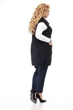 Жилет Жилет ANELLI 671 черный  Состав: ПЭ-9%; Шерсть-28%; ПАН-63%; Сезон: Весна-Лето Рост: 164  Жилет является универсальным предметом гардероба. Он хорошо сочетается с брюками, юбкой, платьем.Вязаны
